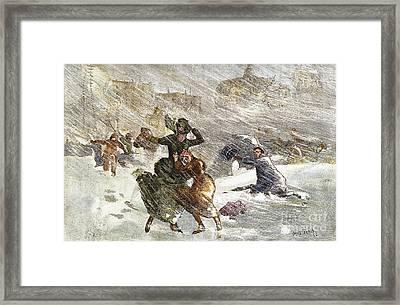 Blizzard Of 1888, Nyc Framed Print by Granger
