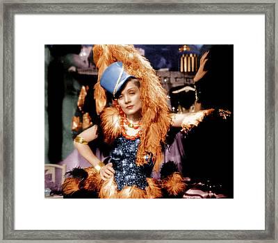 Blonde Venus, Marlene Dietrich, 1932 Framed Print by Everett