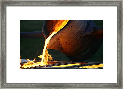 Blood Of The Earth II Framed Print by Jacqui Collett
