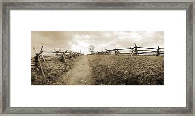 Bloody Lane Antietam Framed Print