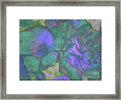 Blooms Framed Print by Mando Xocco