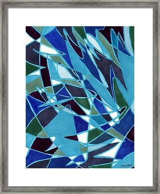 Blue Blaze Framed Print