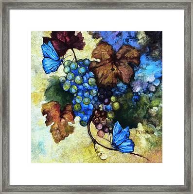 Blue Butterflies  Framed Print by Peggy Wilson
