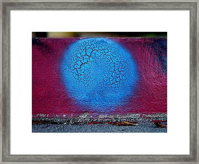 Blue Circle  Framed Print by Ludmil Dimitrov