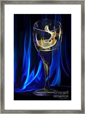 Blue Compliments Me  Framed Print by Danuta Bennett