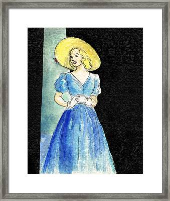 Blue Gown Framed Print