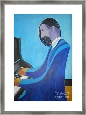Blue Monk Framed Print