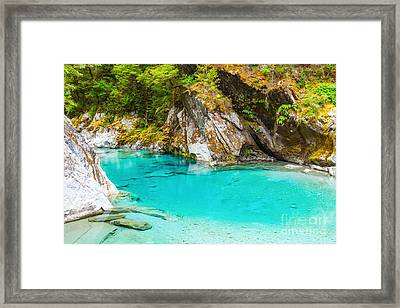 Blue Pools Framed Print by MotHaiBaPhoto Prints