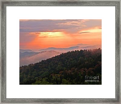 Blue Ridge Sunset Framed Print by Bob and Nancy Kendrick