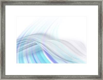 Blue Swirl Background Framed Print by Blink Images