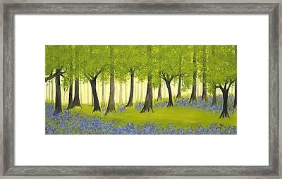 Bluebell Grove Framed Print