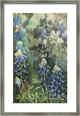 Framed Print featuring the painting Bluebonnet Blessing by Karen Kennedy Chatham