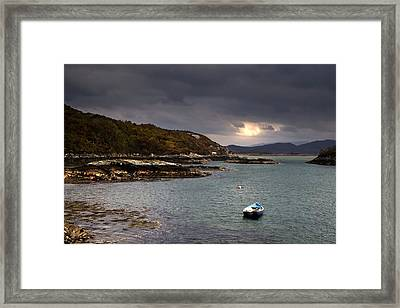 Framed Print featuring the photograph Boat In Water, Loch Sunart, Scotland by John Short