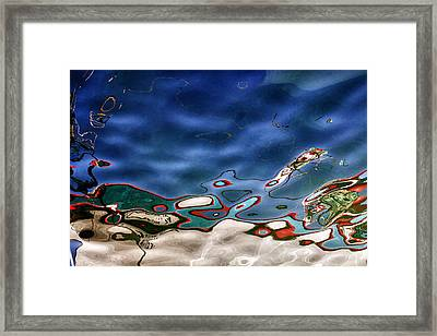 Boat Reflexion Framed Print by Stelios Kleanthous