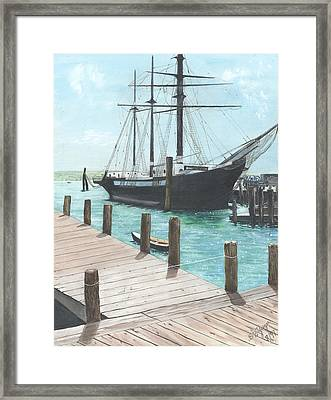Boat With A History Framed Print by Stuart B Yaeger