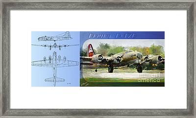 Boeing B-17-g Framed Print by Arne Hansen
