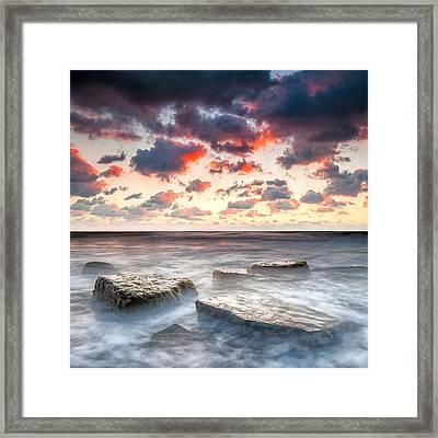 Boiling Sea Framed Print by Evgeni Dinev