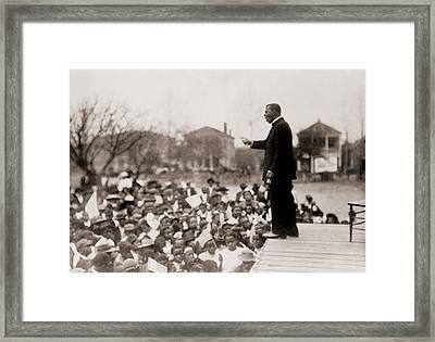 Booker T. Washington 1856-1915 Framed Print by Everett
