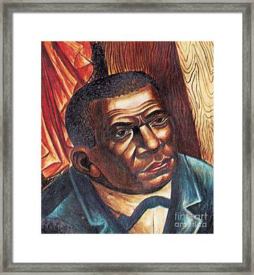 Booker T. Washington, African-american Framed Print
