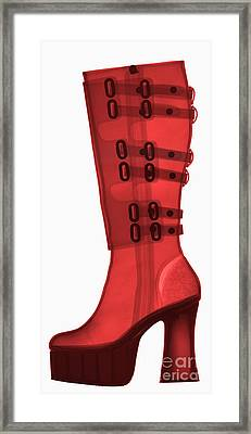Boot, X-ray Framed Print by Ted Kinsman
