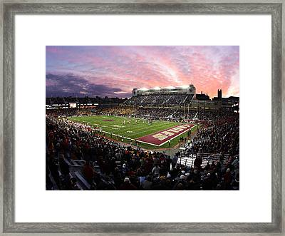 Boston College Alumni Stadium Framed Print by John Quackenbos