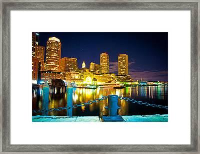 Boston Harbor Hotel Framed Print by Erica McLellan
