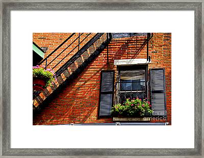 Boston House Fragment Framed Print