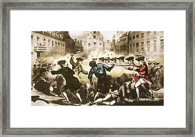 Boston Massacre, 1770 Framed Print