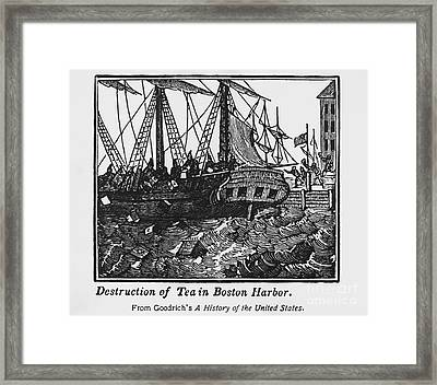 Boston Tea Party, 1773 Framed Print by Omikron
