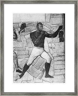Boxing: Thomas Molineaux Framed Print by Granger