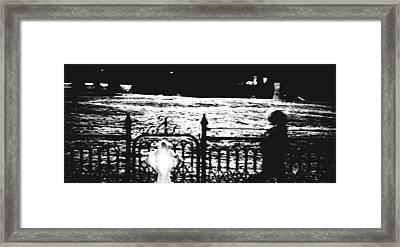 Boy In The Cemetery Framed Print by Daniel Morgan