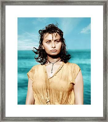 Boy On A Dolphin, Sophia Loren, 1957 Framed Print