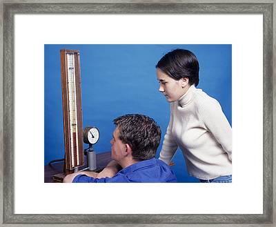 Boyle's Law Demonstration Framed Print by Andrew Lambert Photography