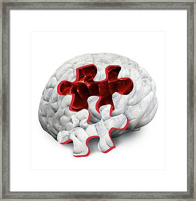 Brain Function, Conceptual Framed Print