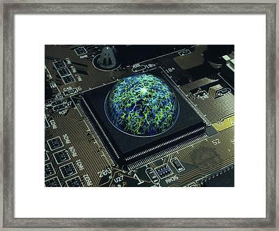 Brain On A Chip Framed Print by Laguna Design