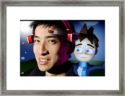 Brainwave-reading Headset Framed Print