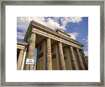 Brandenburg Gate - Berlin Framed Print