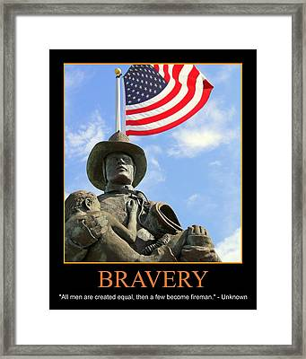 Bravery Framed Print by PMG Images