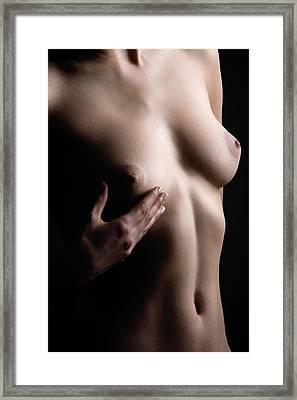 Breast Self-examination Framed Print by Mauro Fermariello