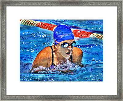 Breaststroke Framed Print by Stephen Younts