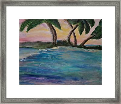 Breathing Sunset Framed Print by Tifanee  Petaja