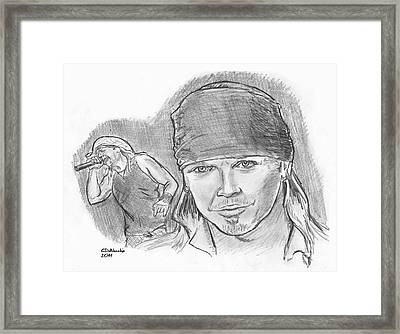 Bret Michaels Framed Print