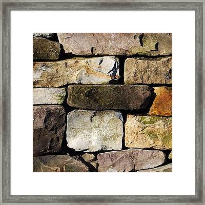 #brick #home #stone #canada #wallpaper Framed Print