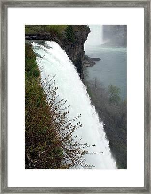 Bridal Veil Falls Framed Print by David Gilman