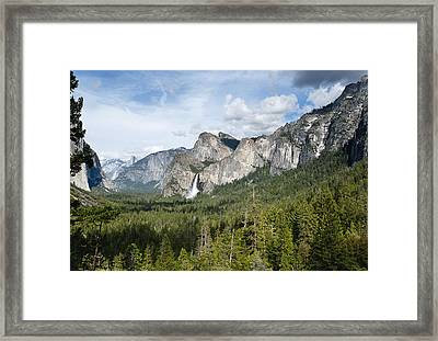 Bridal Veil Falls From Tunnel View Framed Print by Gordon Ripley