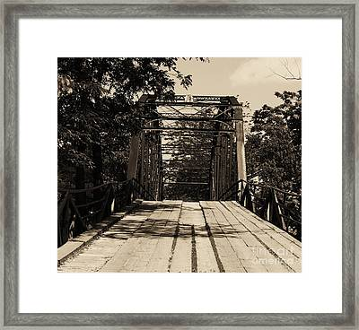 Framed Print featuring the photograph Bridge by Julie Clements
