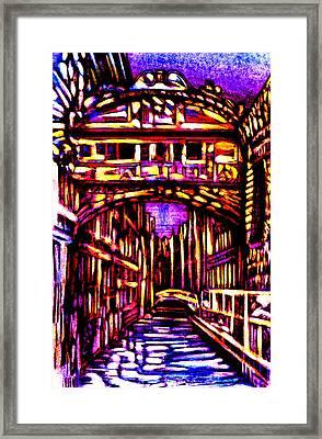 Bridge Of Sighs Framed Print by Giuliano Cavallo