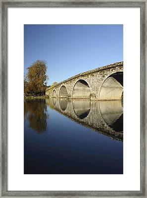 Bridge Over River Nore Bennettsbridge Framed Print by Trish Punch