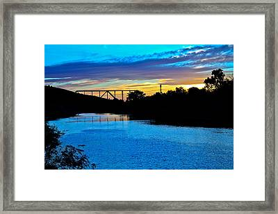 Bridge To The Other Side Framed Print by Joshua Dwyer