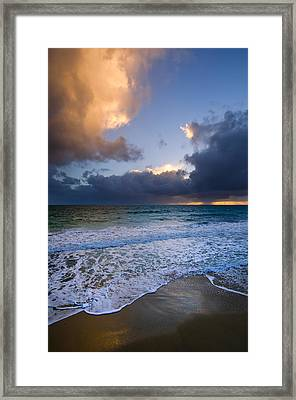 Brighton Beach Sunset Wa Framed Print by Imagevixen Photography